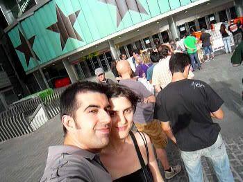 A punto de entrar en el Pabellón (Concierto THE EAGLES 21 de julio de 2009)