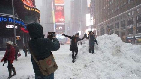 Gran nevada en Manhattan (Nueva York). Enero 2016