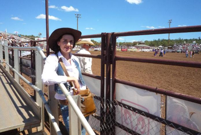 Pilar en el rodeo (Arizona, 2009)