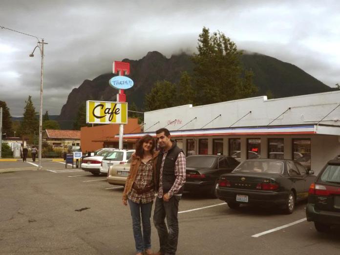 Nosotros en el restaurante Doble RR (Twin Peaks)