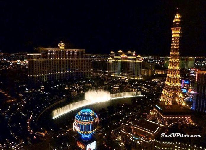 Las vistas desde nuestro hotel en Las Vegas en 2011