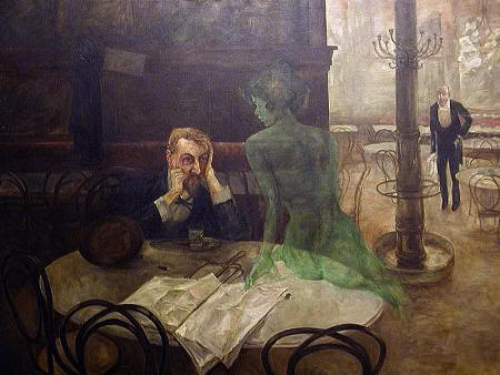 """""""El bebedor de absenta"""" (Viktor Oliva, 1861-1928)"""