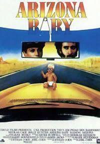 Cartel de la versión española de Arizona Baby (Raising Arizona, 1987)