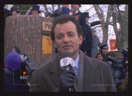 Reportero del gran evento del año en Punxsutawney