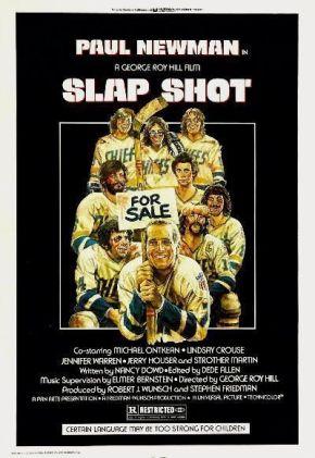 """Cartel original de """"El Castañazo"""" (""""Slap Shot"""", George Roy Hill, 1977)"""