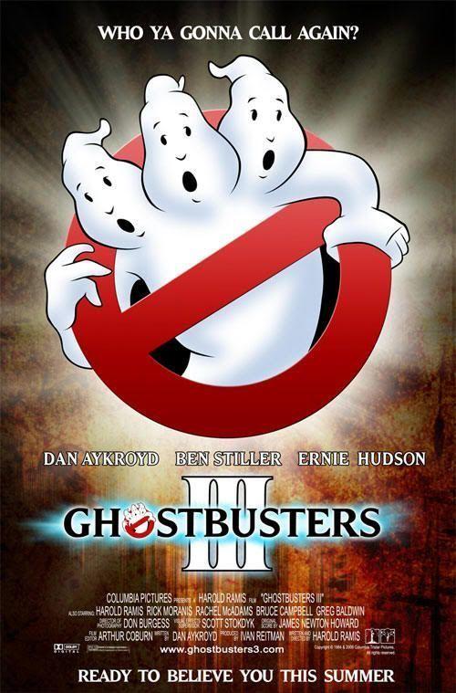 """Supuesto cartel de """"LosCazafantasmas 3"""" (""""Ghostbusters III"""")"""