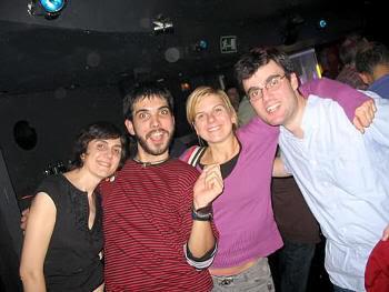 Pilar, Juankar, Theresa y Pablo