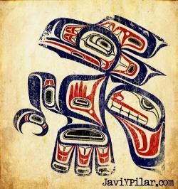 Bayak, conocido como el dios cuervo, es el personaje estafador en numerosas leyendas del noroeste de Estados Unidos