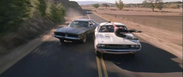 """Dodge Charger 1969 contra Dodge Challenger 1971. """"Death Proof"""" (Quentin Tarantino, 2007)"""
