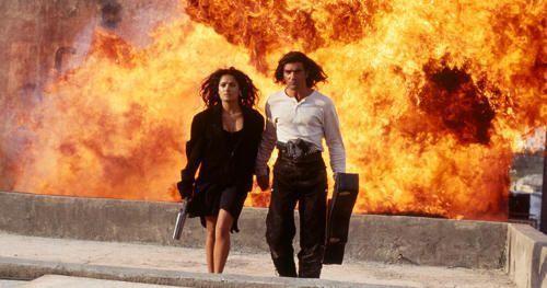 """Salma Hayek y Antonio Banderas en """"Desperado"""" (Robert Rodriguez, 1995)"""