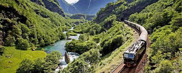 Flåmsbana o tren de Flåm (Noruega)