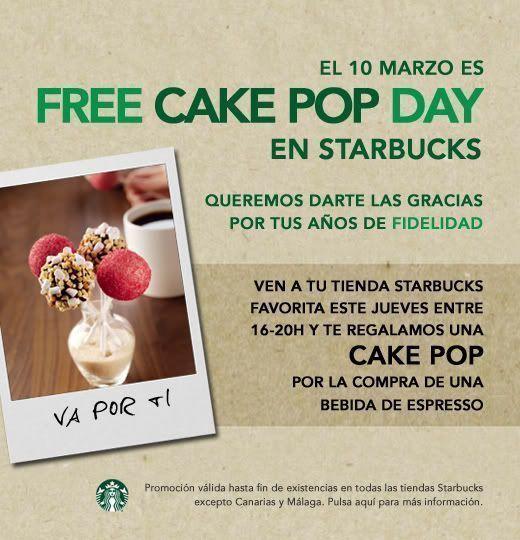 Free Cake Pop Day en Starbucks por el 40º aniversario