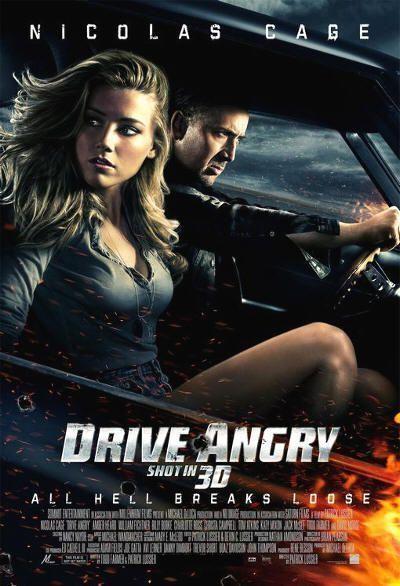 """Cartel de """"Furia Ciega"""" (""""Drive Angry"""", 2011)"""