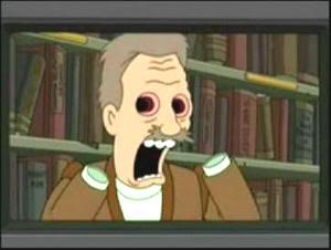 Fotograma de la parodia del capítulo en Futurama