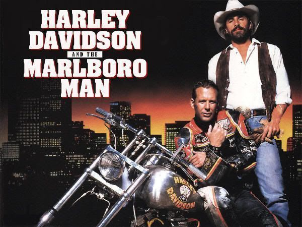 "Cartel de ""Dos Duros Sobre Ruedas"" (""Harley Davidson and the Marlboro Man"", 1991)"
