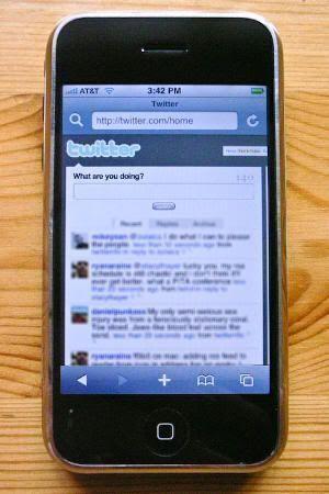 Aplicación de Twitter en un smartphone