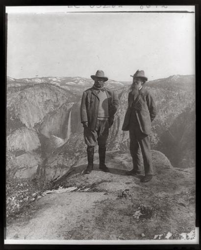 John Muir y Theodore Roosevelt