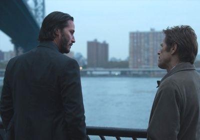 """Keanu Reeves y Willem Dafoe en """"John Wick"""" (2014)"""