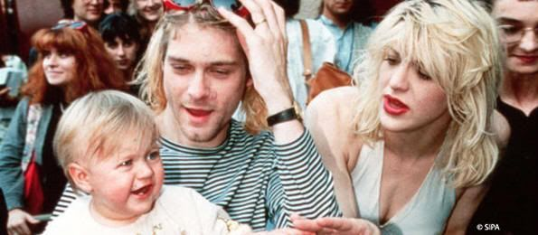 Kurt Cobain, Courtney Love y su hija Frances