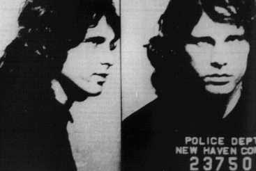Foto de la ficha policial de Jim tras el incidente de New Haven (9 de diciembre de 1967)