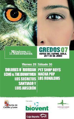 """Cartel del Festival """"Músicos en la Naturaleza"""". Gredos 29 y 30 de junio de 2007"""