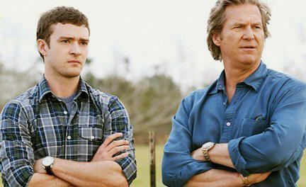 "Justin Timberlake y Jeff Bridges en ""The Open Road"" (2009)"