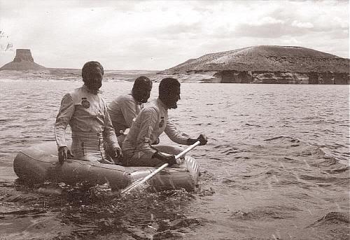 """Foto original tomada durante el rodaje de """"El Planeta de los Simios"""""""