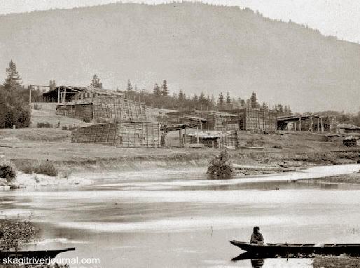 Poblado Quamichan en 1861