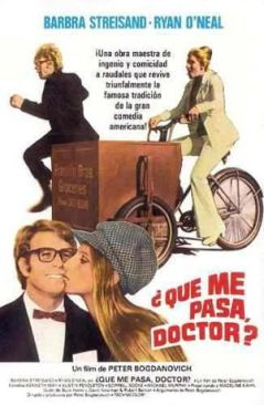 "Cartel de ""¿Qué Me Pasa, Doctor?"" (""What's Up, Doc?"", 1972)"