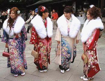Reunión en el templo Meiji de Tokio por el seijin no hi