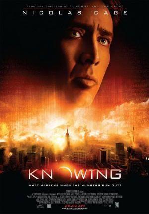 """Cartel de la versión original de """"Señales del Futuro"""" (""""Knowing"""", 2009)"""