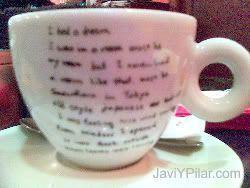 La foto de la taza es de mala calidad porque el movil es de mala calidad (sic)