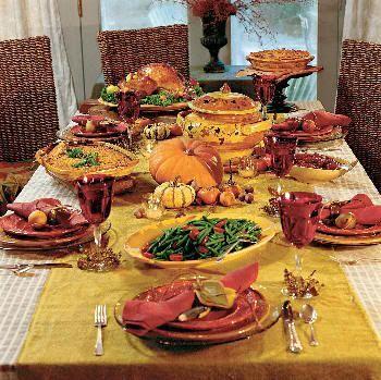 Típica comida de Acción de Gracias