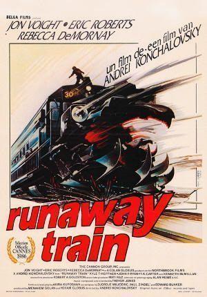 """Cartel de """"El Tren del Infierno"""" (""""Runaway Train"""", 1985)"""