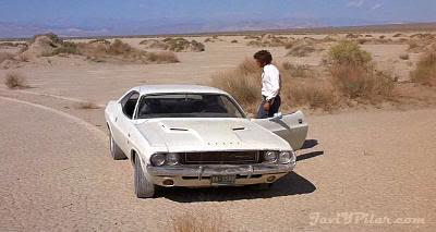 """Kowalski y su Dodge Challenger de 1970 en """"Punto Límite Cero"""" (""""Vanishing Point"""", 1970)"""