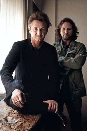 Sean Penn y Eddie Vedder
