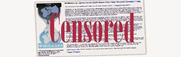 Wikileaks: censurado