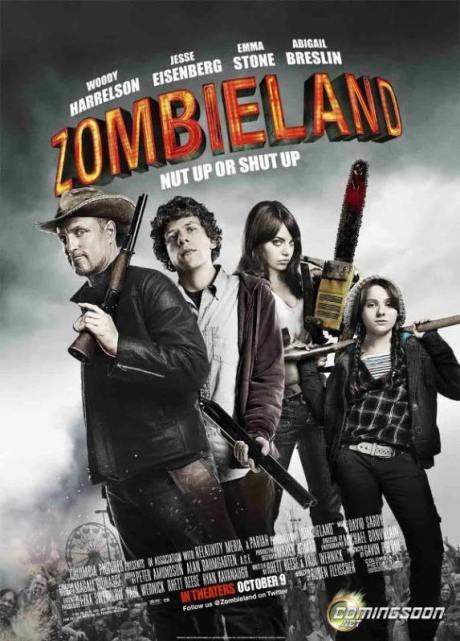 """Cartel de """"Bienvenidos a Zombieland"""" (""""Zombieland"""", 2009)"""