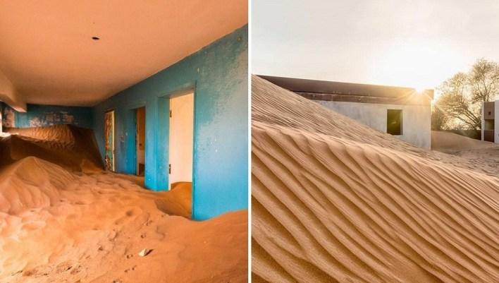 يقول بعض الباحثين إن سكان القرية هجروها بسبب العواصف الرملية التي كان يمكن أن تجعلها غير قابلة للسكن