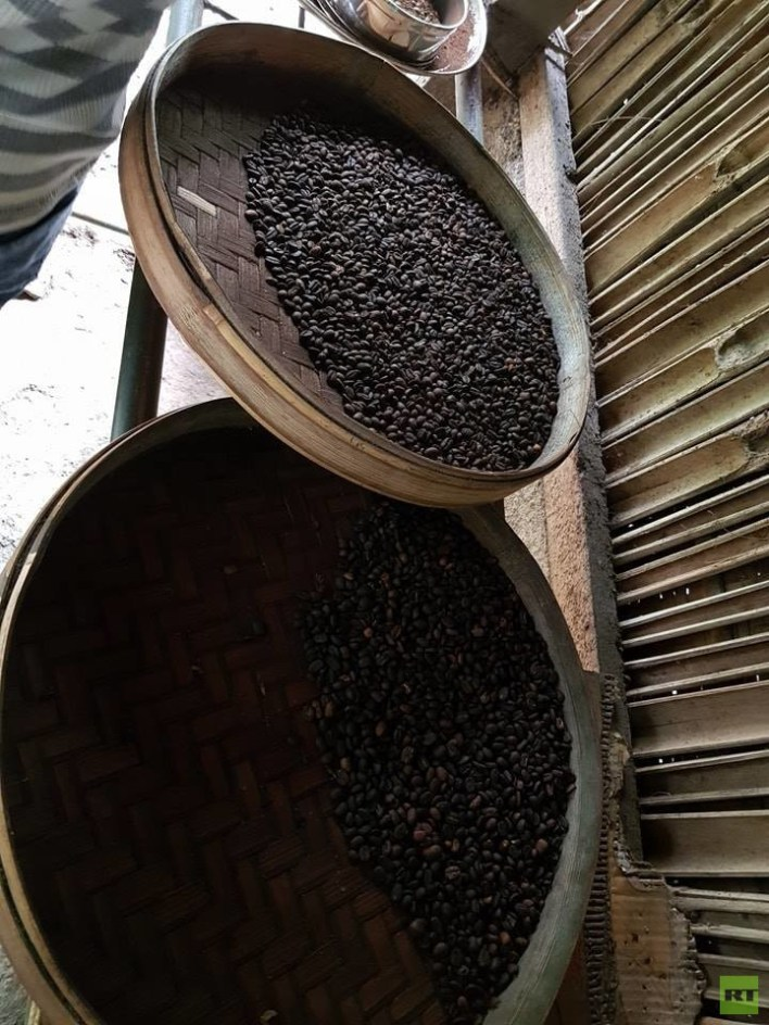 بعد تحميصها تصبح الفضلات سوداء وشبيهة جدا بشكل ورائحة القهوة العادية