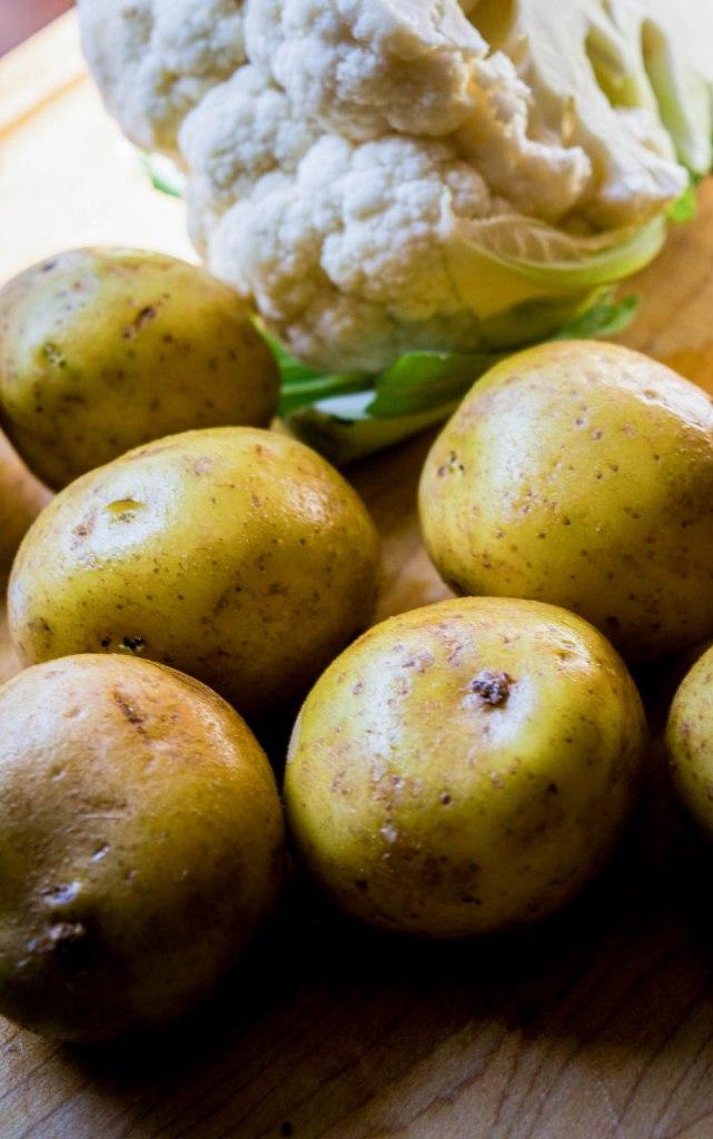 cauliflower and yukon gold potatoes