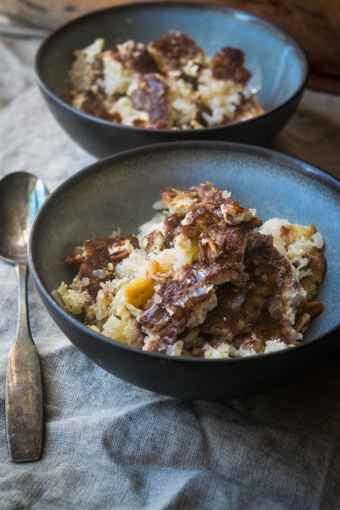 Baked Pecan Rice Pudding