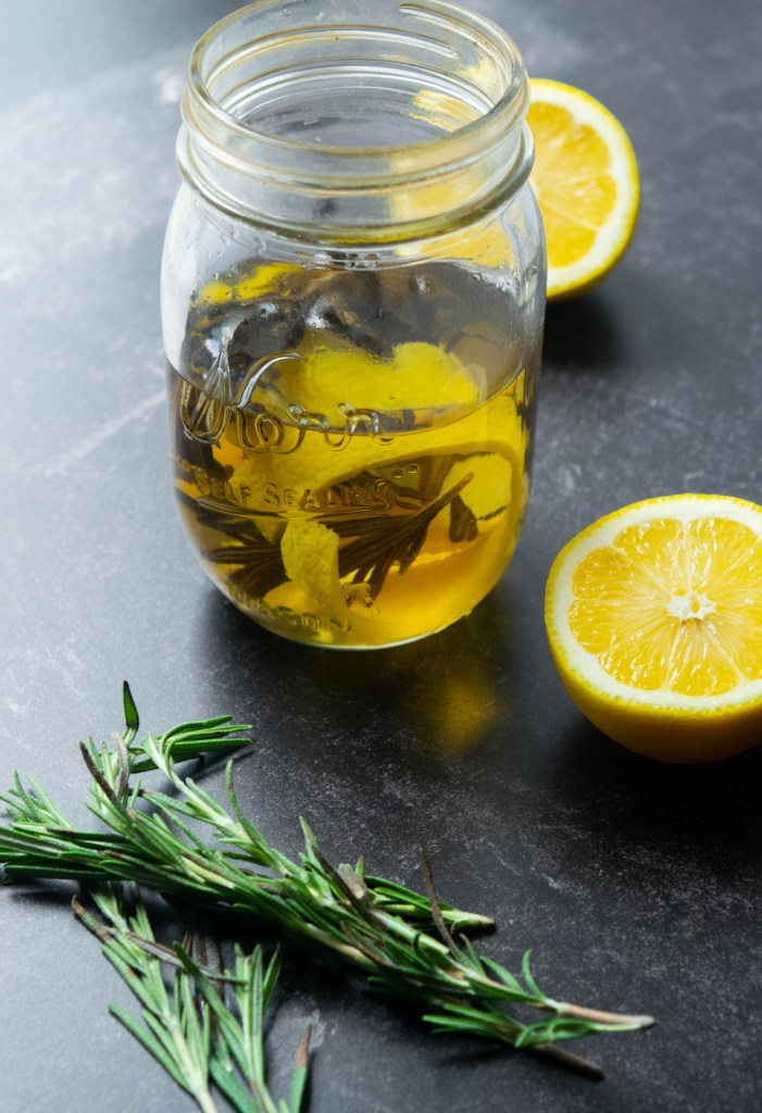 Roemary and lemon infused gin