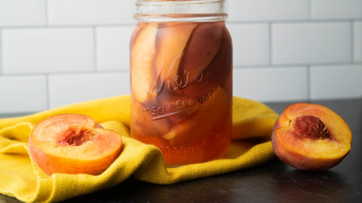 peach infused titos vodka