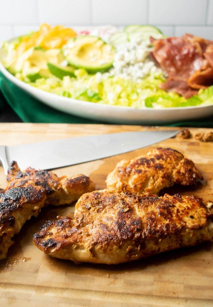 honey marinated chicken for cobb salad