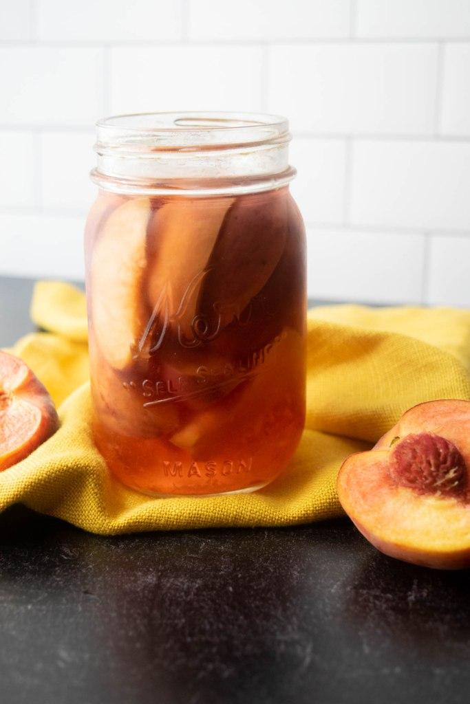 peach infused vodka