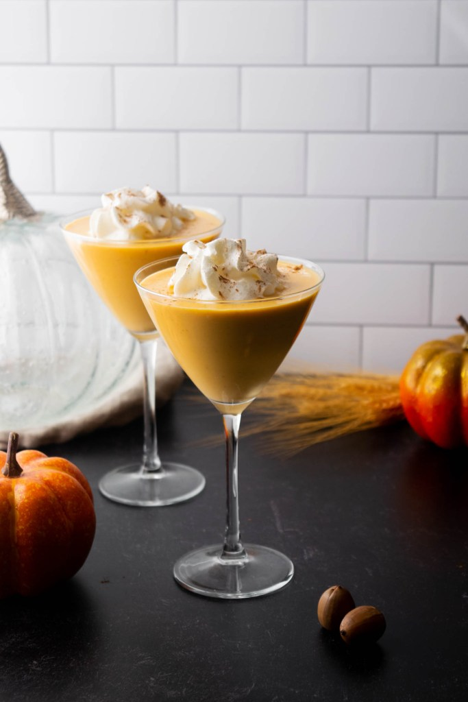 pumpkin martinis with whipped cream