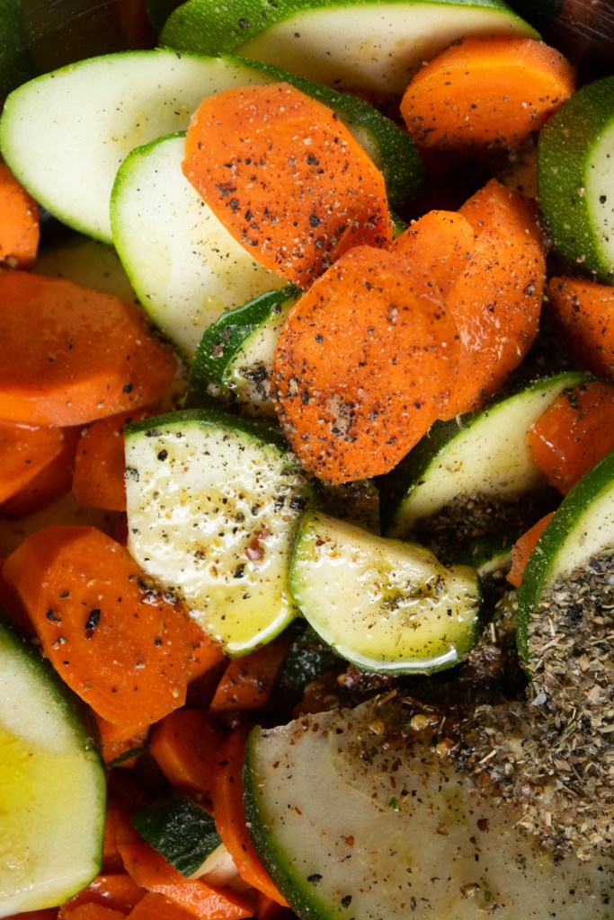 spiced zucchini and carrots