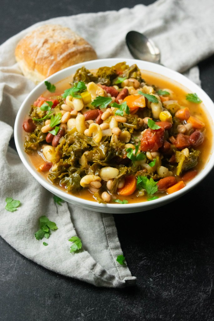 instant pot kale minestrone