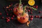 Cranberry Christmas Mimosas